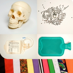 iartist of London sells DIY kits that allow you to make your own version of famous contemporary art like Damien Hirst's Skull, Banksy's Stencils, Marc Quinn's Self, Tracy Emin's Tent and more.