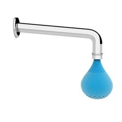 Drop is the new faucet shower designed by Giulio Iacchetti for IBrubinetterie. The fun silicon drop prevent formation of lime.