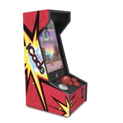 A mini arcade cabinet, the iCade Jr. brings the arcade excitement to your iPhone or iPod touch.