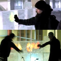 Built by Nokia's research lab in Tampere, this touchscreen made of ice shows anything can be interactive.