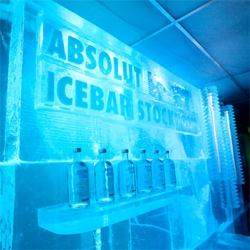 """Absolut Icebar Stockholm ~ First look at the latest design - """"Factory"""" - officially opening today! (They change the design and menu twice a year) ~ even peeks from behind the bar!"""