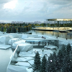 The winning design for the new Saint Petersburg, Russia zoo, by a team of French architects.