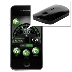 Cobra 'iRadar' combines radar/laser detection technology with the iPhone.  Cobra iRadar App alerts you to speed & redlight cameras, known speed traps, dangerous intersections and detects radar & laser guns.