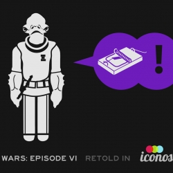 Star Wars Episode VI - Return of the Jedi recreated entirely in Icons(Iconoscope), for your delight and amusement. Think of it as how Ikea might retell the story.