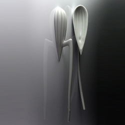 "During the "" designer's day"" in Paris this year, Laurent Corio will exhibit a peculiar  project at the Catberro Gallery (p.s. those are porcelain spoons)"