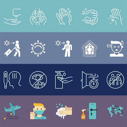 Iconfinder has over 200 free vector icons for coronavirus awareness (and general hygiene!)