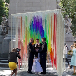 The winners of Architizer + The Knot's Pop Up Chapel competition are announced! The two temporary chapels will be constructed this Saturday in Central Park and will host 24 weddings in celebration of marriage equality.