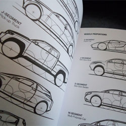 I Draw Cars, by Matt Marrocco and Adam Hubers, a sketchbook and reference guide pairing commonly used industry reference materials with a molelskine sketchbook.