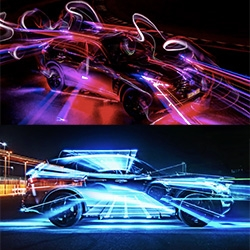 Inspired Light by Infiniti  starring the QX70S Elite Sport. This light painting piece uses cars as both tools & canvas, and is stunningly mesmerizing. I've watched it again and again to see the way the light dances.