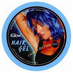 hair gel...that...glows.  crazy.