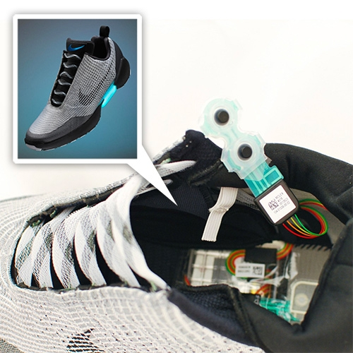 Nike HyperAdapt Teardown on Mind Tribe. See just what makes those laces auto-tighten.