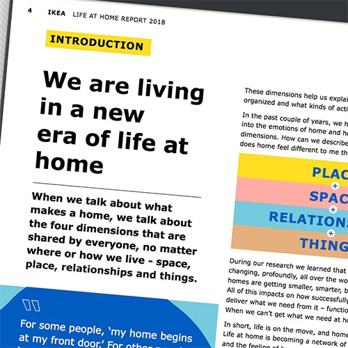 "IKEA Life At Home Report 2018 - ""Beyond Four Walls: A new era of life at home"" They have a website dedicated to the research as well as a summarized pdf report."
