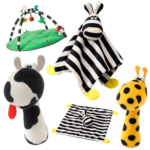 IKEA Klappa Baby Toy Collection of rattles, blankets, playmats and more.