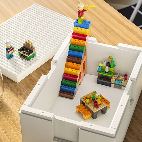 IKEA x LEGO = BYGGLEK collection! It contains two sets of buildable storage containers and a set of specially curated Lego bricks.