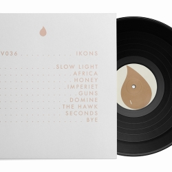 Record sleeve for the untitled debut album of Ikons. Released on the esteemed Service label. LP limited to 500 copies. Design by Bedow Creative.