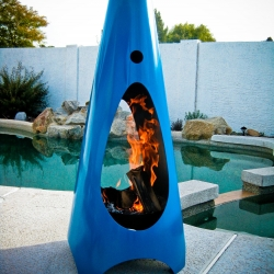 Modfire are stunning contemporary sculptural masterpieces designed by Brandon Williams which takes a new approach to the outdoor fireplace.