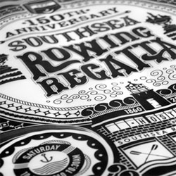 Cool screenprints by ilovedust for the Southsea Rowing Club's Regatta, limited 150 edition