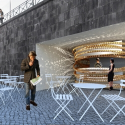 BIJOU is a new coffee shop concept created by im.architektur for your daily dose of pleasure.