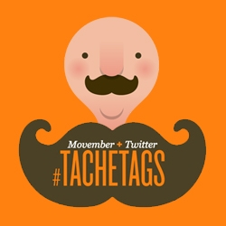 Tachetags: a mash-up of Twitter and Movember - an automated 'stache - gregator!