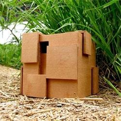 IMAKE studio's architectural birdhouses.