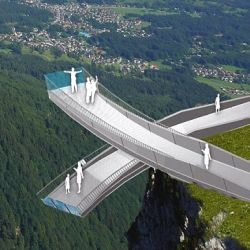 Workers put finishing touches to 1,000m high AlpspiX Alpine viewing tower. Situated in the Garmisch-Partenkirchen region of Germany and provides panoramic views of surrounding Hoellental and Garmisch. Opens July 4th.  Read more: http://www.dailymail.co.uk/news/worldnews/article-1290637/Don-t-look-Workers-finishing-touches-1-000m-high-Alpine-viewing-tower.html#ixzz0sMNSdgv5