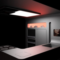 The Gorenie Ora-Ito kitchen by Morabito blends advanced technology with simple functionality and allows you to put your kitchen wherever you want it.