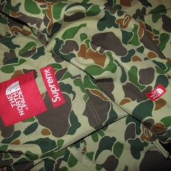When Supreme X Northface come together, take notice. This seemingly one-off camo pullover could be a sign of awesome things to come from SUPREMEFACE.