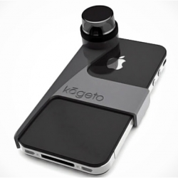 Kogeto DOT: 360º to your phone, you can shoot and take pictures at an angle of 360 degrees! This camera accessory comes with a software that plays recorded images, you can also move the video with your finger to the desired angle.