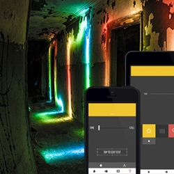 Glowee is an iPhone and iPad app for creating stunning light paintings.