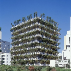 Flower tower in Paris by Edouard Francois, 2004.