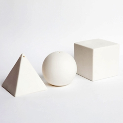 'Primary Shakers' by Imm Living, this trio of salt, pepper and sugar shakers impart a new inspired setting for mealtime.