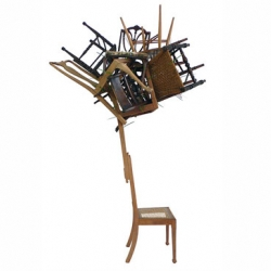 In The Woods Chair is a balanced stack of unwanted chairs, found on the street where designer Karen Ryan lives.