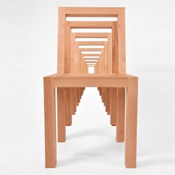 The Inception Chair by RISD student, Vivian Chiu, is one of her many puzzle-like furniture designs.