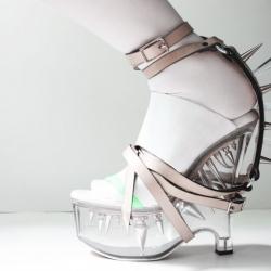 Lauren Tennenbaum aka (In)Decorous Taste presents her rock crystal shoes.