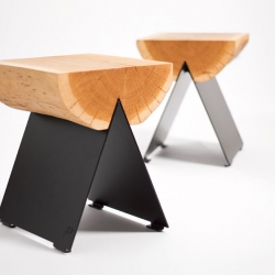 Designed by the Polish studio WitaminaD, the ½ Stool is a versatile piece of furniture that serves as a stool or an end table and can be placed indoors or outside.