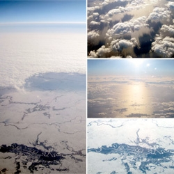 Operation Window Seat: LON-LAX ~ the wintery edition, lots of amazing icy goodness! And a mysterious UFO like pic too...