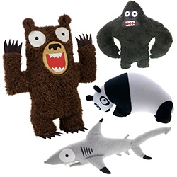 Adorably absurd IndyPlush brings awareness to a lot of animals! They are stuffed with 100% recycled plastic bottles, using sustainable fabrics, and constructed in Los Angeles, CA. Interesting origin story as well...