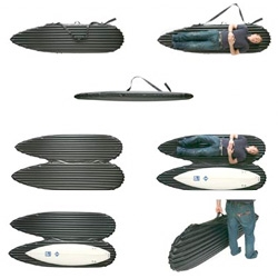 Inflatable Surfboard Case ~ brilliant! Prototype by Nicholas Martino