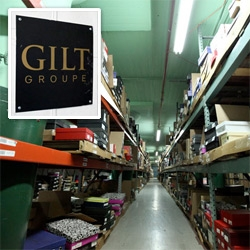 Inside the Gilt Groupe Warehouses ~ seeing where all the clothes come from... from a sea of racks, to piles of boxes waiting to go out, and more!