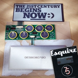 I couldn't help taking apart the limited edition E-Ink Esquire 75th Anniversary Cover ~ see video and pics and scans of all the guts and the screen in action!