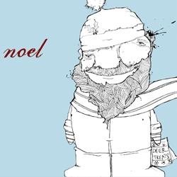 Designer/illustrator creates pen & ink christmas greetings in his Ink Noel series.