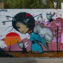 Some cool street murals from London-based artist Tom Blackford, aka Inkfetish.