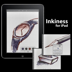 Inkiness, ipad app, can be your notepad or sketch book with expressive ink writing that has the presence of real stationery.