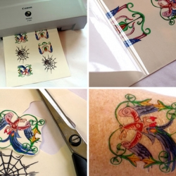 This.is.so. COOL! Print your own tattoos.