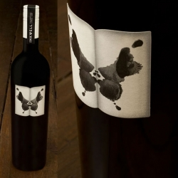 MASH created the packaging for Inkwell wine in an ink splatter forms. Its shape reflects open pages.  Logo type was kept simple and used on a neck label to keep separation between the type and the strong yet simply presented ink imagery.