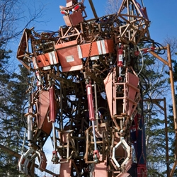 """Carlos Owens had handled all kinds of machines as an army mechanic, but he always dreamed of using those skills for one project: his own """"mecha,"""" a giant metal robot that could mirror the movements of its human pilot."""