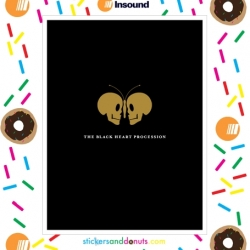 Poster artist Jason Munn made twenty special edition posters for InSound, and 20 blogs are each giving one away. This is my favorite, nuzzling skulls looks like a butterfly!!!