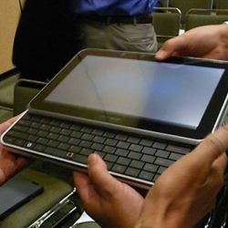 "The UrbanMax is basically an Intel computer concept that ""includes an 11-inch (1,366 x 768) display, a slide out QWERTY keyboard, a minuscule optical mousing device and Windows Vista behind the scenes."
