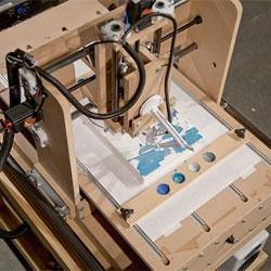 Benjamin Grosser's Interactive Robotic Painting Machine.
