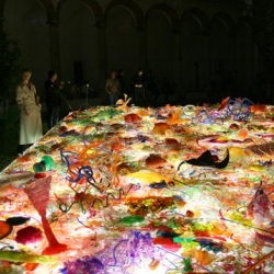 Part of the Interni Design Energies exhibition at the 2009 Milan Furniture Fair, Jacopo Foggini's 'magic carpet' is made from scraps of acrylic glass.